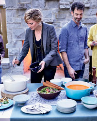 Jennifer Nettles's Soup Party: singer Jennifer Nettles and chef Steven Satterfield.