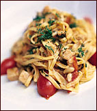 Linguine with Fresh Tuna, Tomatoes and Lemon