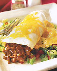 Barbecued-Pork Burritos with Chopped Salad