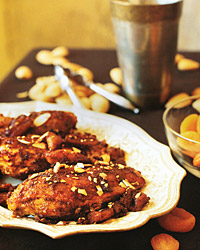 Spiced Chicken Breasts with Dried Apricots
