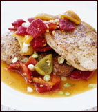 Pork Scallopine with Spicy Cherry-Pepper Sauce