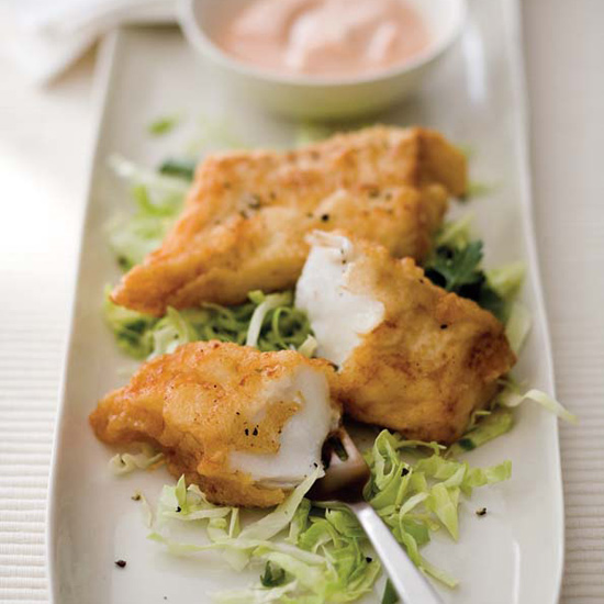 Battered Cod with Marie Rose Sauce