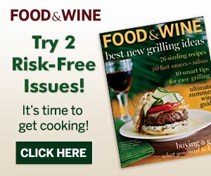 Try two risk-free issues of Food & Wine!