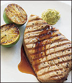 Grilled Tuna Steaks with Citrus-Ginger Sauce