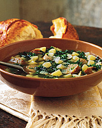 Kale and Potato Soup with Turkey Sausage Recipe - Quick From Scratch ...