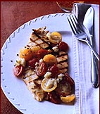 Chicken Paillard with Tomato and Goat Cheese Salad
