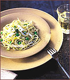 Pasta with Peas, Garlic and Ricotta Salata
