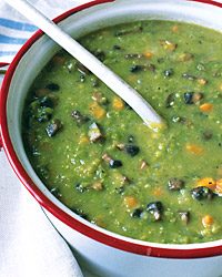 Split-Pea Soup with Portobellos