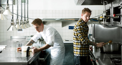 Split personality: Michael Voltaggio as gadget nerd and home cook.