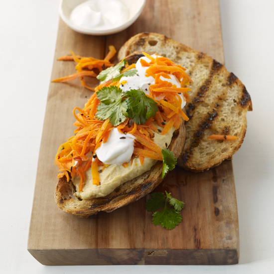 Healthy Eating Tips: Spicy Carrot Sandwiches