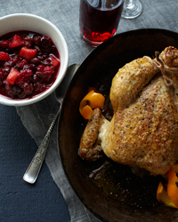 Roast Chicken with Chutney