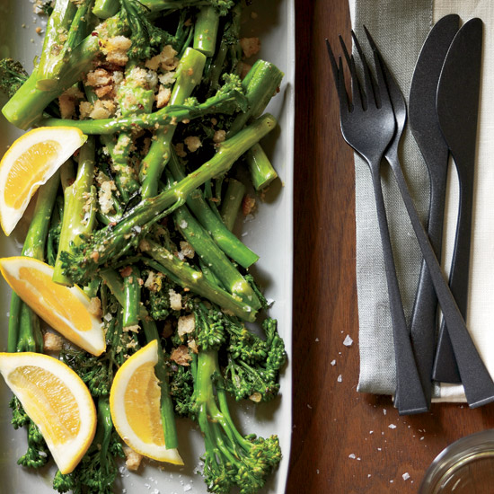Broccolini with Crispy Lemon Crumbs