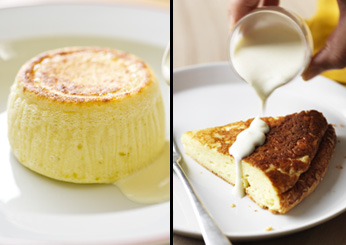 Double-Baked Cheese Soufflé with Parmesan Cream