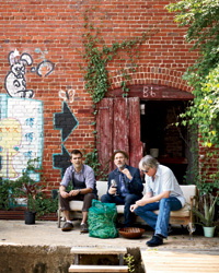 Southern Cooking: Hugh Acheson with musicians Michael Stipe and Mike Mills