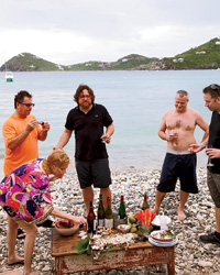 Fatty Crab in St. John: Barbecue on Ditleff Beach