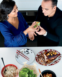 Jean-Georges and Marja Vongerichten's Christmas: Her Korean-inspired holiday dishes.