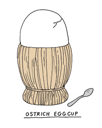 Chianti basket to ostrich eggcup