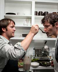 René Redzepi and Daniel Patterson: Chefs tasting their creations.