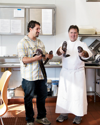 Ben Sargent and chef Norman Van Aken