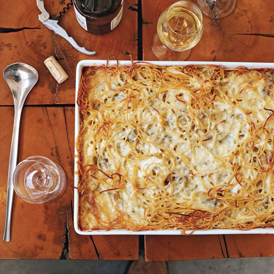Baked Four-Cheese Spaghetti