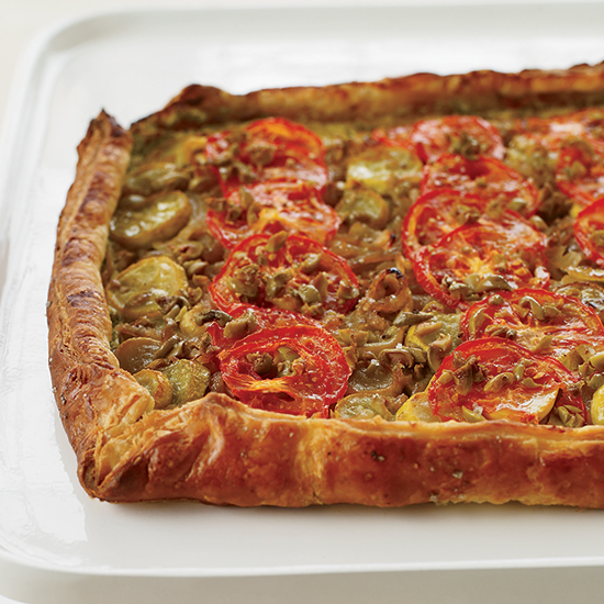 Summer Squash and Tomato Tart