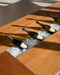 Home Design Ideas: Dining Table Wine Storage