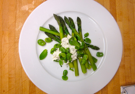 Asparagus and Fava Bean Salad