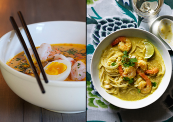Southeast Asian Recipes: Coconut Laksa with Shrimp