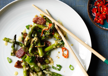 Southeast Asian Recipes: Singaporean Sautéed Asparagus with Ginger