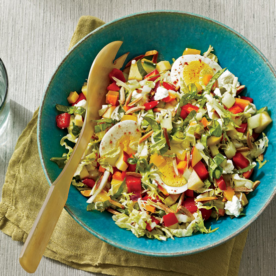 Summer Chopped Salad with Quick-Pickled Vegetables