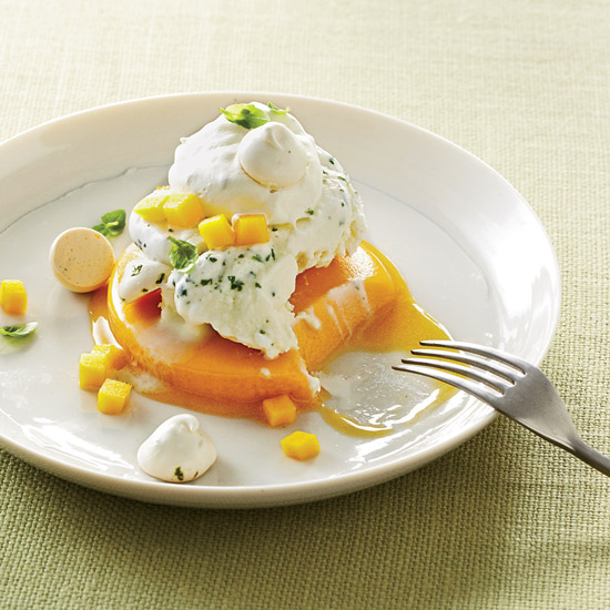 Spring Recipes: Mango-Basil Vacherin