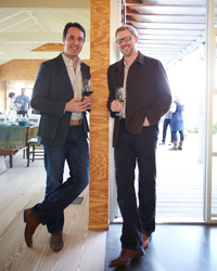 Wine on Tap: Jordan Kivelstadt and Dan Donahoe.