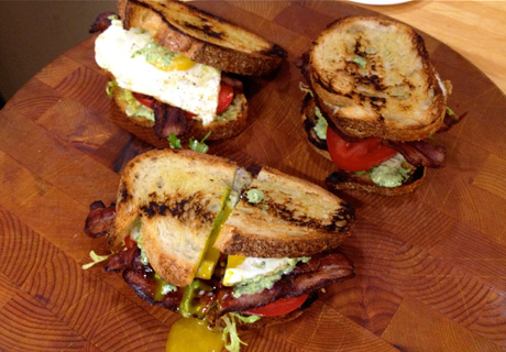 Fried Egg BLTs with Arugula Aioli