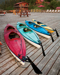 Alaska Travel: Tutka Bay Lodge kayaks