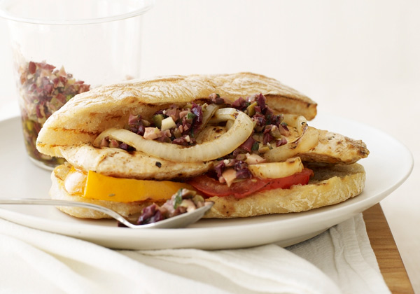 Grilled Chicken, Tomato and Onion Sandwiches