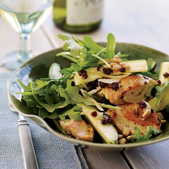 tasty salads with chicken