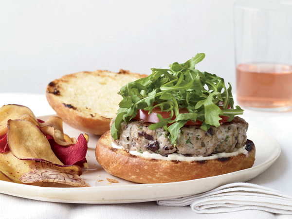 This tuna burger offers the flavors of a Niçoise salad, on a bun.