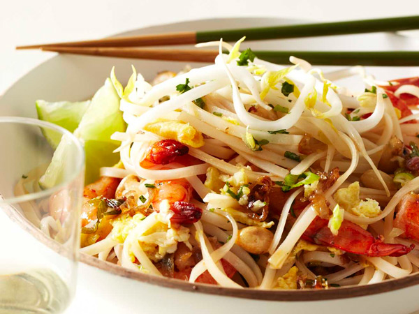 This fast version of American-style pad thai comes together in just 30 minutes. Look for the noodles in the Asian section of markets. / © Kate Mathis