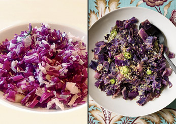 Easy Indian Recipes: Red Cabbage Stir-Fry with Coconut