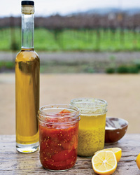 Medlock Ames winery: oils and preserves