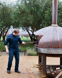 Medlock Ames winery: wood-burning oven