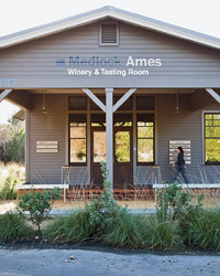 Medlock Ames winery: tasting room
