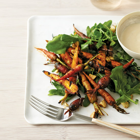 Grilled Carrot Salad with Brown Butter Vinaigrette