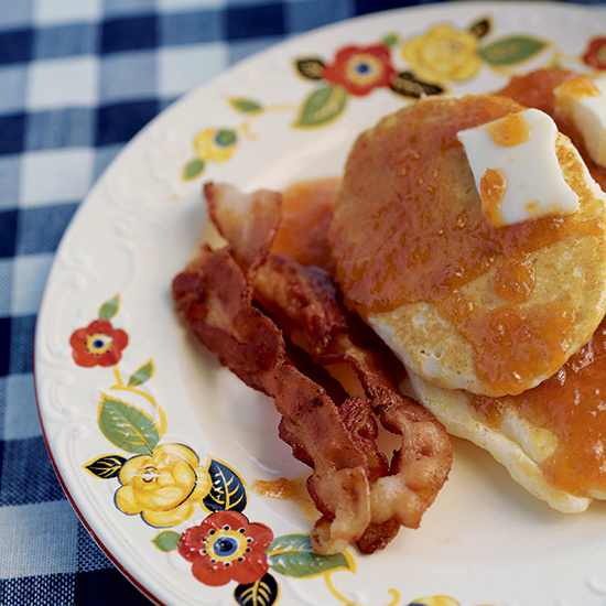 Pancakes with Apricot Honey