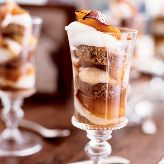 caramel apple parfaits