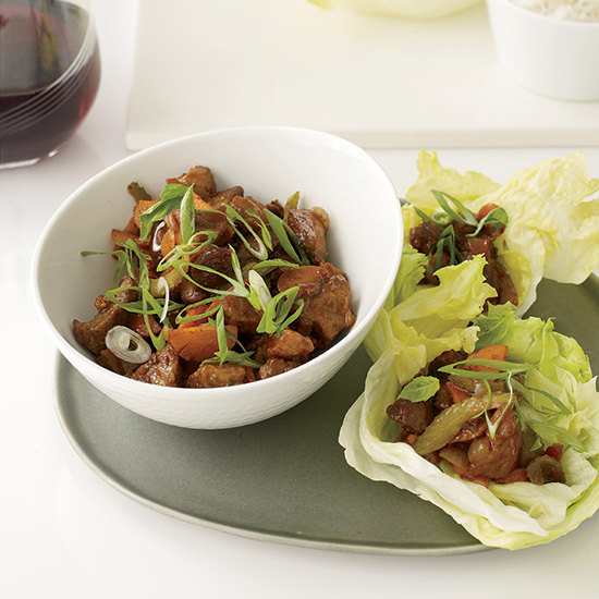 Stir-Fried Five-Spice Pork with Lettuce Cups