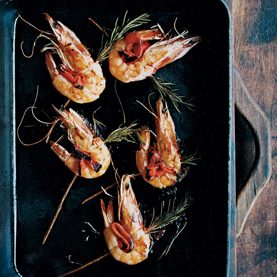 Rosemary-Skewered Shrimp