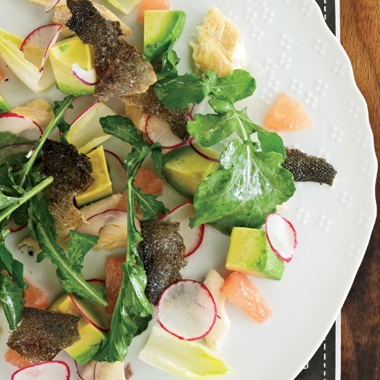 Smoked-Trout Salad with Avocado and Grapefruit