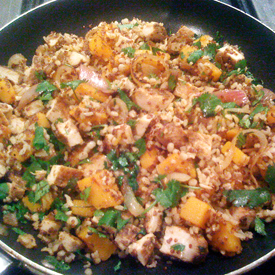 Mixed Grains with Chicken and Butternut Squash
