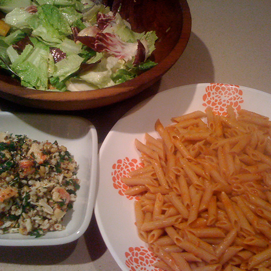 Penne and Seafood Grain Salad